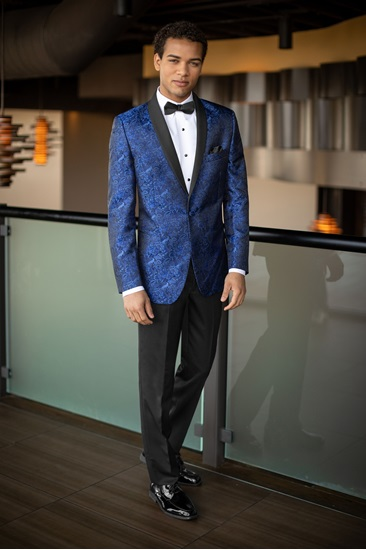Picture of Cobalt Aries Blue Shawl Tuxedo